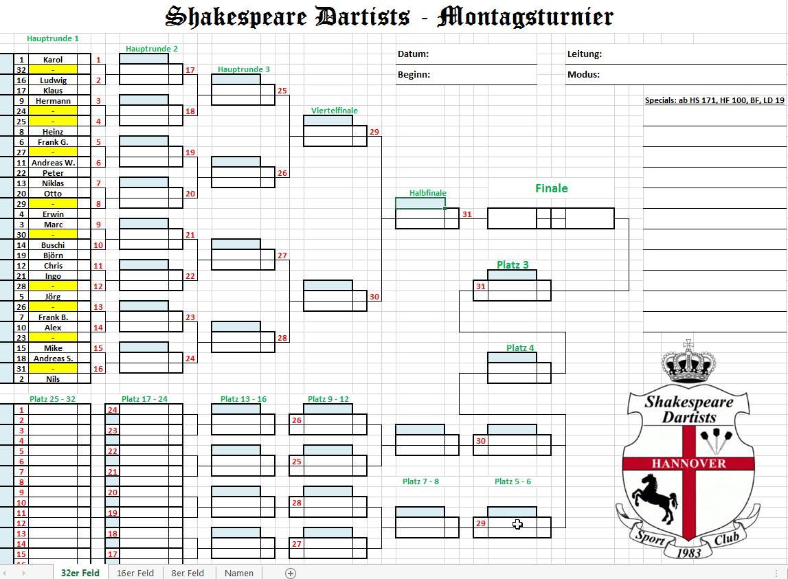 Turnierplan Online